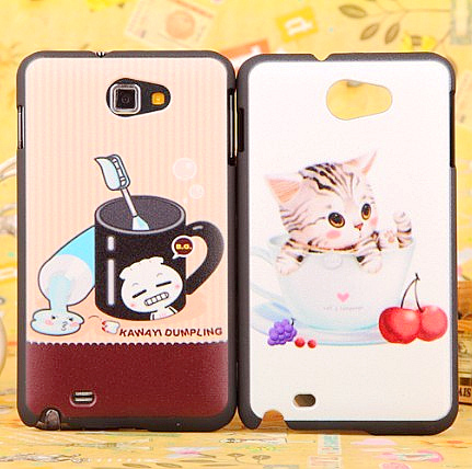 Colored drawing cartoon cat for samsung phone case i9220 i9228 protective case mobile phone case shell