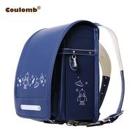 Кулоновского характер рюкзак для Обувь для мальчиков Школьные Ранцы ортопедические ранец НЛО черного и синего цвета из искусственной кожи