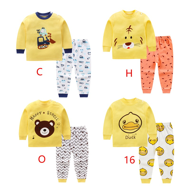 2018 children's clothes set boys sleepwear set cotton cute pyjamas for boys  6m-5y