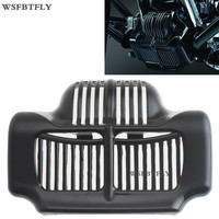 Black Stock Oil Cooler Cover For Harley Touring Electra Road Street Glide 2011 2015 12 13 14