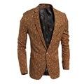 Весна и Осень 2016 новый классический мужская повседневная Slim Fit малый костюм пальто мужской бренд Моды костюмы куртка