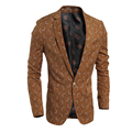 Spring and Autumn 2016 new classic men's casual Slim Fit small square suit coat Men's  brand  Fashion suits jacket