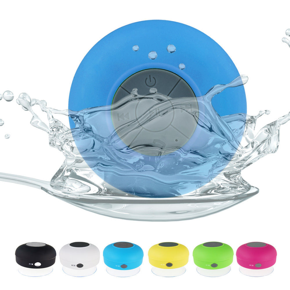mini bluetooth waterproof wireless suction speaker handsfree shower mic car 5051in speakers from consumer electronics on alibaba group