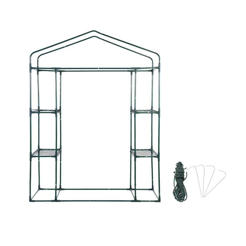 143 X 73 X 195cm 4 Tier Mini Greenhouse Iron Stands Shelves Garden Balconies Patios Decor Diversified In Packaging Garden Buildings