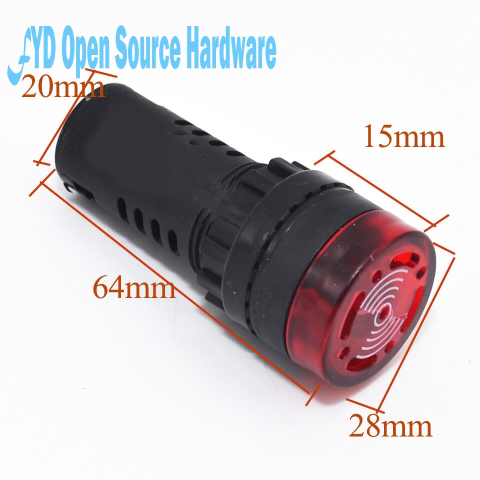 5pcs Intermittent sound of sound and light buzzer alarm AD16-22SM 22MM 12V or 24V or 110V or220V ...