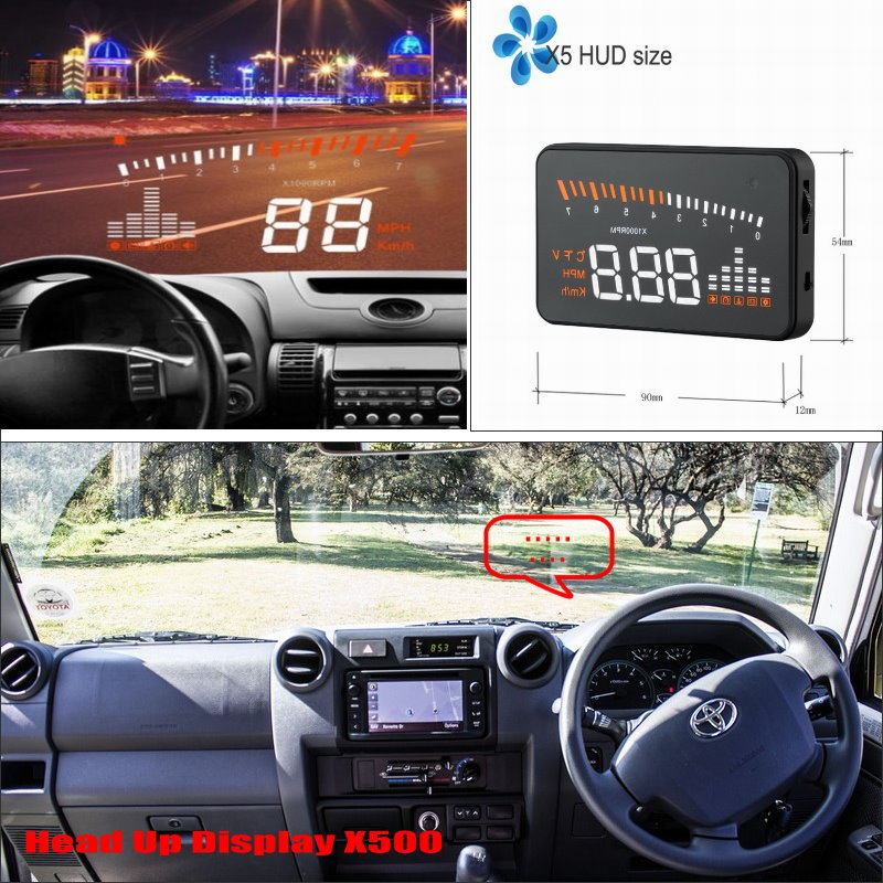 Car Computer Screen Display Projector Refkecting Windshield For TOYOTA Land Cruiser 70 100 200 V8 / Prado 90 120 150 / Roraima bigbigroad car hud windscreen projector for toyota land cruiser prado 70 90 120 150 lc 100 200 v8 200 lc200 head up display
