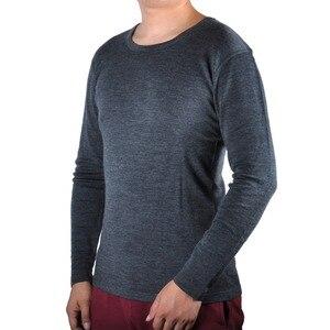 Image 2 - Masculino 100% puro lã merino inverno camada base térmica quente camisola roupa interior respirável meados de peso calças conjunto inferior