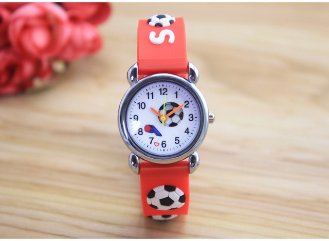 10pcs/lot New Arrival  3D football Cartoon Silicone Band Chilidren's watches Kids Gift Watch 10pcs/lot Wholesale