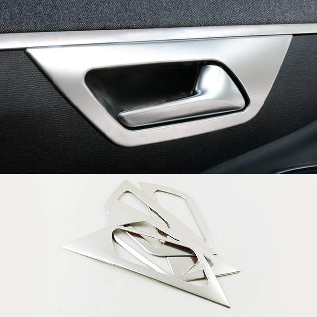 Stainless Steel Door Handle Bowl Cover Interior Decoration Trim For <font><b>PEUGEOT</b></font> <font><b>3008</b></font> <font><b>GT</b></font> 4008 5008 Car <font><b>Accessories</b></font> Styling <font><b>2017</b></font> <font><b>2018</b></font> image
