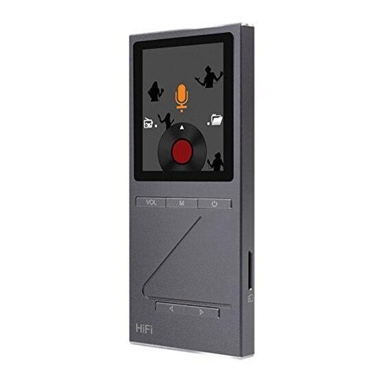 ONN 8 GB lecteur de musique mp3 HIFI professionnel sans perte avec support d'écran TFT format APE/FLAC/ALAC/WAV/WMA/OGG/MP3