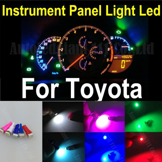 25pieces 7colors Led T5 Wedge Light Bulb 286 74 5050smd Instrument