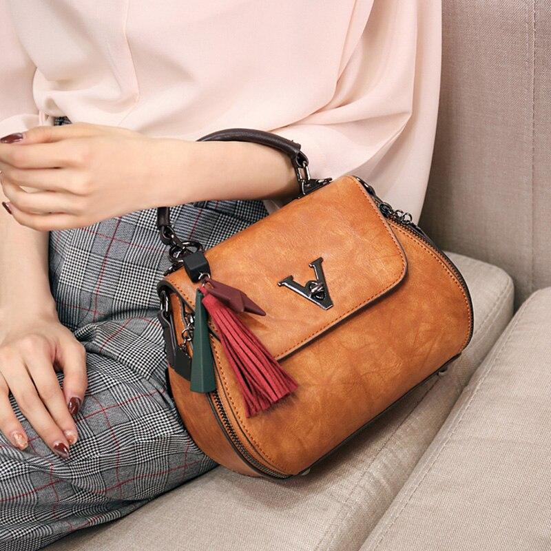 Torba kobieca zestaw górny uchwyt duża pojemność torebka damska Tassel moda torba na ramię torebka damska xia w Wiadra od Bagaże i torby na  Grupa 2