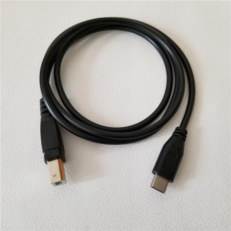 USB 3.1 Type C To USB Standard B Port Data Extension Cable For Electric Piano Android Phone OTG Printer Connection Black 1M