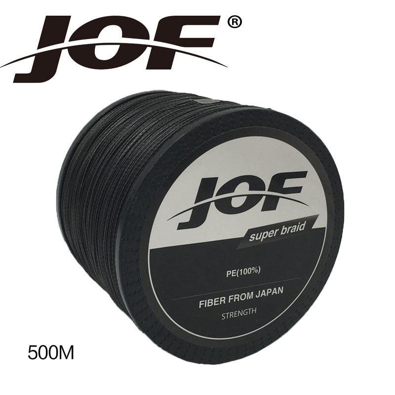 Nieuwe Collectie !! JOF 4 Srtands 500 M PE Gevlochten Lijn 10LBS Tot - Visvangst - Foto 2