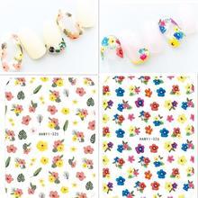 3D nail sticker Newest Hanyi-325 326 flower design wraps Japan style rhinestones DIY decoration for