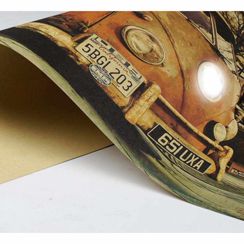 LAITANG Roadside Cars Vintage Poster Kraft Paper Retro Poster Wall Decoracion Pared Home Decor Decoration Wall Sticker 51*35.5CM