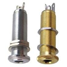 1/4 6.35mm Guitar Bass Pickup Threaded Cylinder Jack Output Input Plug Socket for
