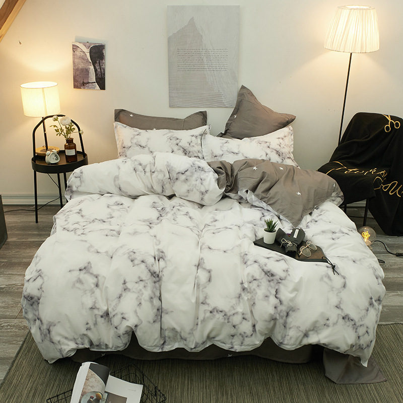 Queen Size Bedding Set King Size Bed Linen Sets Marble Printed