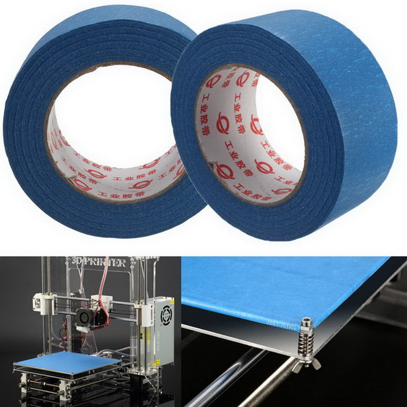 50m X 50mm Blue Tape Painters Printing Masking Tool For Reprap 3D Printer T0.05 205mm width blue masking tape high temperature resistance masking tape for 3d printer makerbot thickness 0 13mm