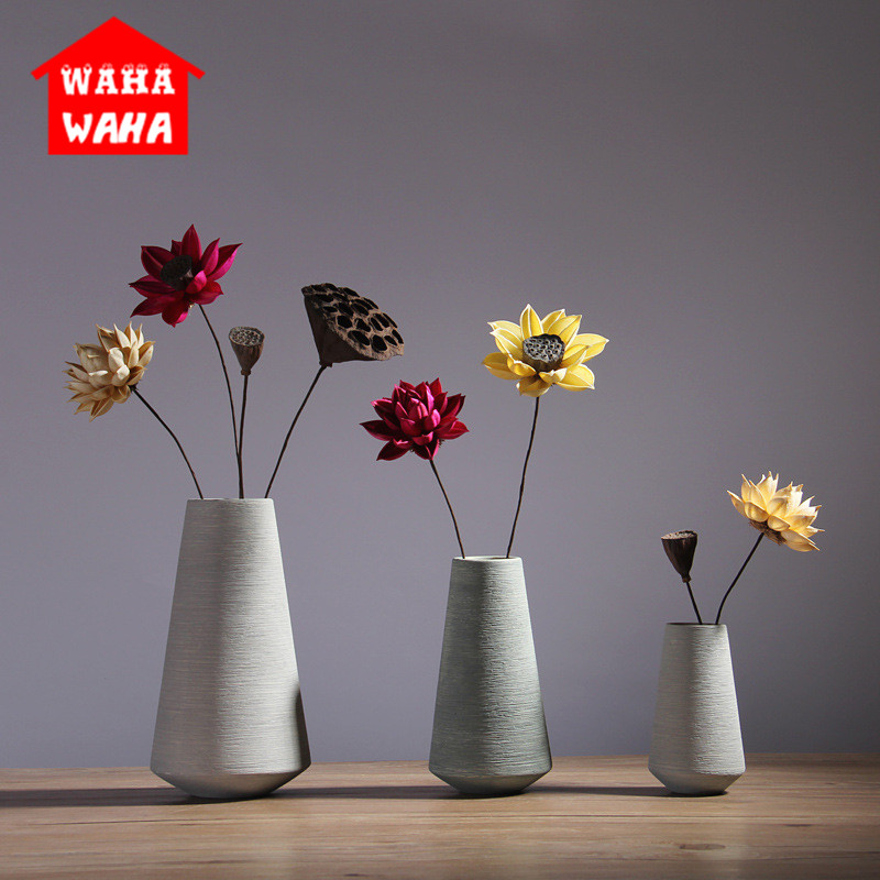 Nordic Classic White Ceramic Vase Chinese Arts And Crafts