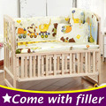 5 PCS Set Bebê Recém-nascido Berço Bumper Berço Conjuntos de Cama de Bebê adesivos para Crianças Jogo Dos Desenhos Animados Do Bebê Berço Berço Cama Set 100x58 cm CP01