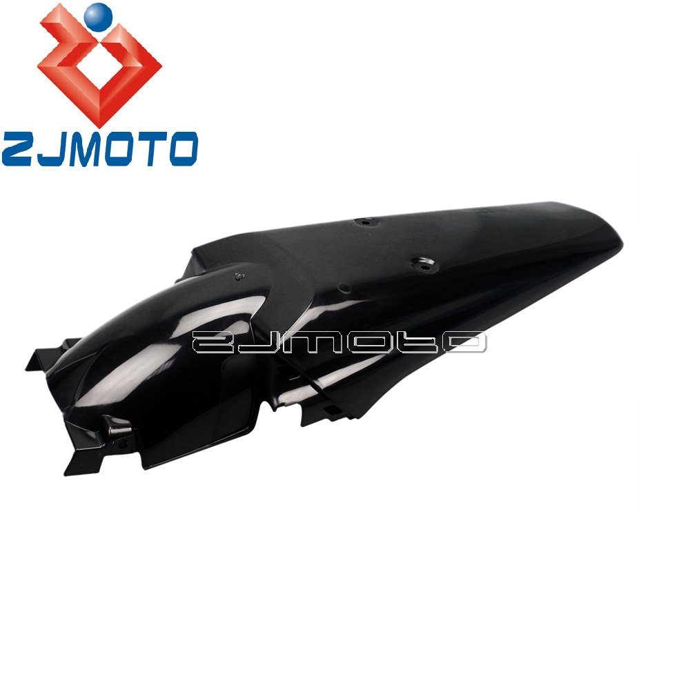Black Plastic Rear Fender Universal Enduro Rear Mudguard For <font><b>Honda</b></font> CR <font><b>XR</b></font> CRF 50 85 100 150 200 230 250 <font><b>350</b></font> 400 450 500 600 650 image