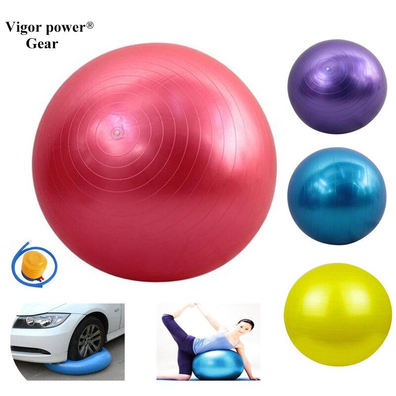 65cm Yoga Ball Physical Fitness ball for Exercise balance Ball home trainer Anti-slip exercise ball for Yoga and Pilates