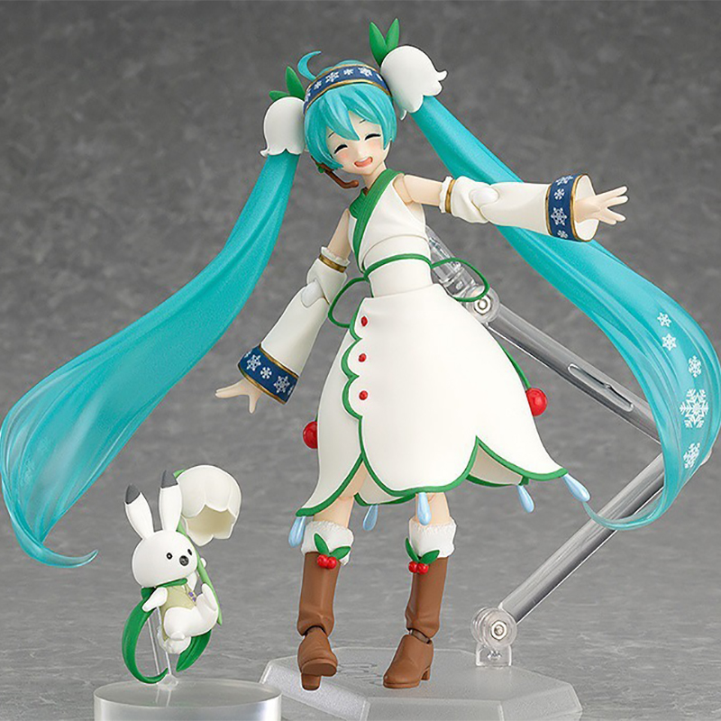 Vocaloid Hatsune Miku Figma Action Figure Series EX-024 Snow Miku Snow Bell ver. 2015 PVC Action Figures Collectible Model Toys image