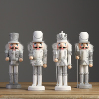 The silver ornaments decorations Home Furnishing Nutcracker soldiers puppet joint creative wedding decoration
