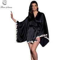 שינה שמלת סאטן גלימות חלוק רחצה נשית Licorne Pyjama חלוק קימונו ארוך בתוספת גודל 290