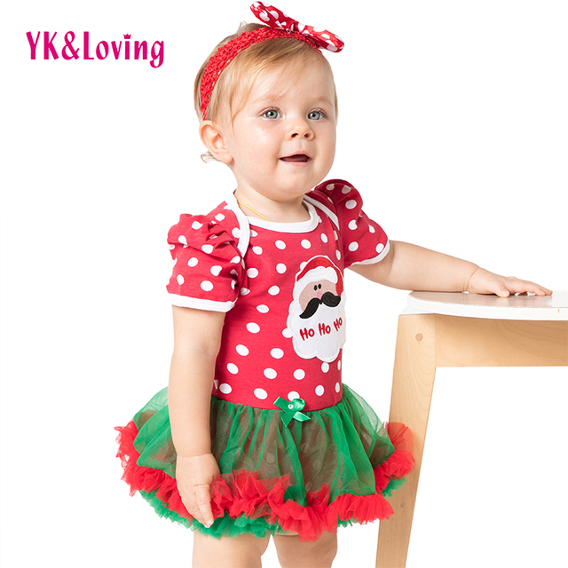baby christmas costumes girl dress dot baby christmas clothes short sleeved cotton kids clothes for