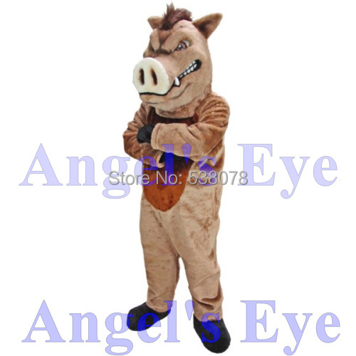 US $315 0 |High Quality Wild Boar Mascot Costume Adult Size Fierce Brown  Boar Mascotta Costume Fancy Dress for Carnival Cosply SW1506-in Mascot from