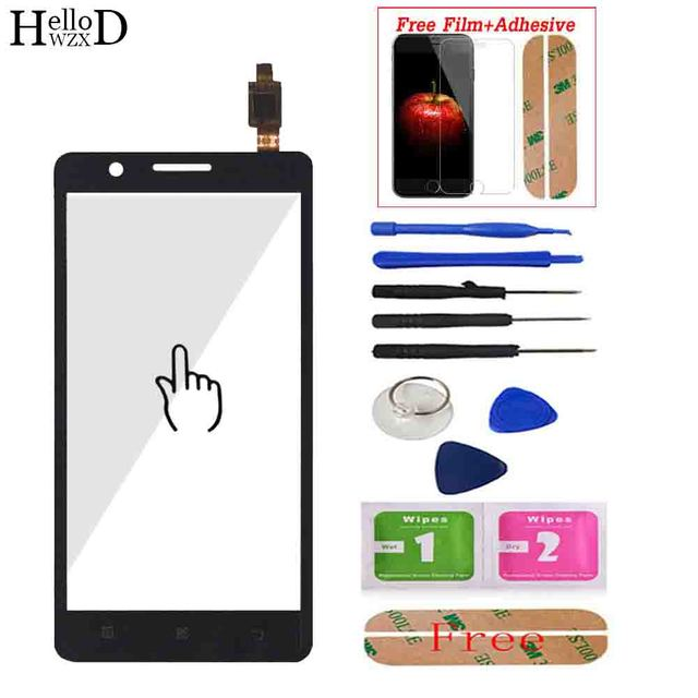 """5.0"""" For Lenovo A536 536 Touch Screen Panel Digitizer Front Glass Lens Sensor Touchscreen Tools Adhesive + Screen Protector Gift"""