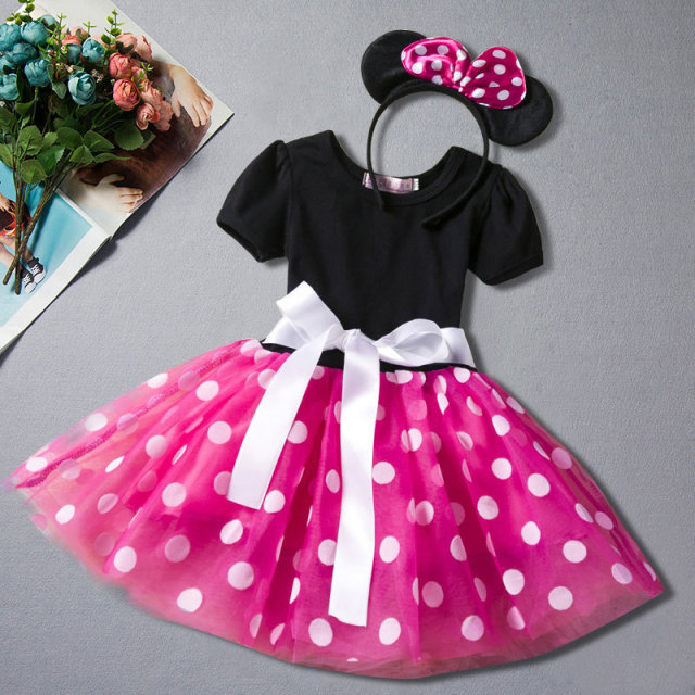 4c9451e26d1 Baby Girls Dress Minnie Mouse Dresses for Girls Clothes Birthday Party  Princess Dress Kids Clothes Dress