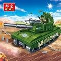 Banbao militar educativo bloques de construcción de juguetes para los niños regalos tobess hero arma arma del ejército vehículo tanque pegatinas