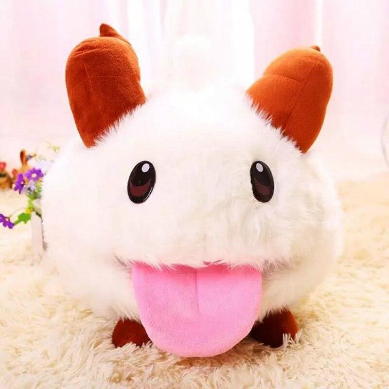 25 centímetros Bonito Jogo League of Legends LOL Limitado PUAL Poro Plush Stuffed Toy Boneca Kawaii Rato Branco Dos Desenhos Animados Do Bebê brinquedo TL0127
