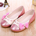 2017 del otoño niños niñas shoes con arco muchacha de los niños del ballet shoes patchwork niños pequeños princesa shoes zapatos de ninas