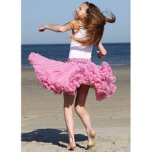 Free Shipping Womens Skirt  Fluffy Chiffon Pettiskirts tutu skirts girls Princess Dance Party Skirt For Lady adult tulle skirt недорого