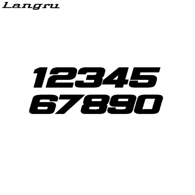 Langru Fun Phone Number 1234567890 Motorcycle Vinyl Decal Graphical Car Sticker Accessories Jdm(China)