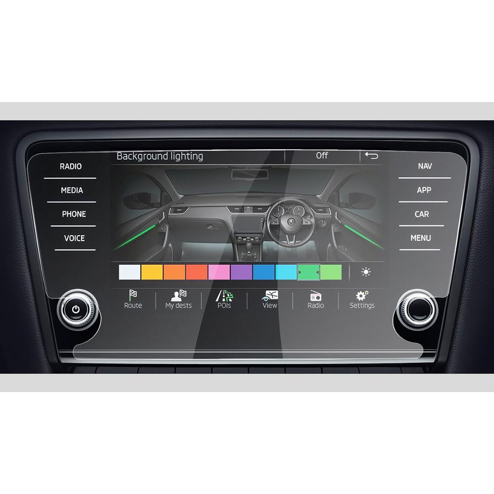 RUIYA screen protector for Skoda infotainment system Amundsen Octavia 8inch car navigation screen 9H tempered glass
