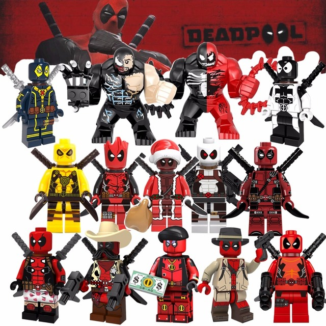 Única Venda duplo Filme Venom Spiderman Super Hero Action Modelo Building Blocks brinquedos para crianças mini Legoed tijolo figuras presente