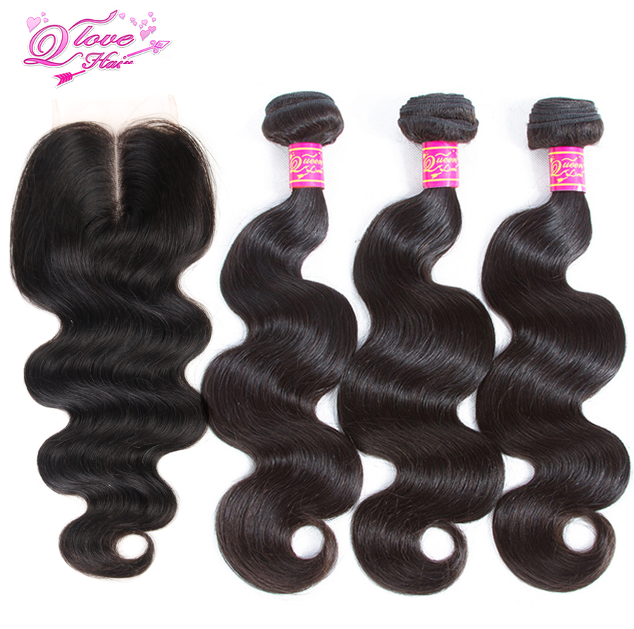 Queen Love Hair Peruvian Hair 3 Bundles With Closure