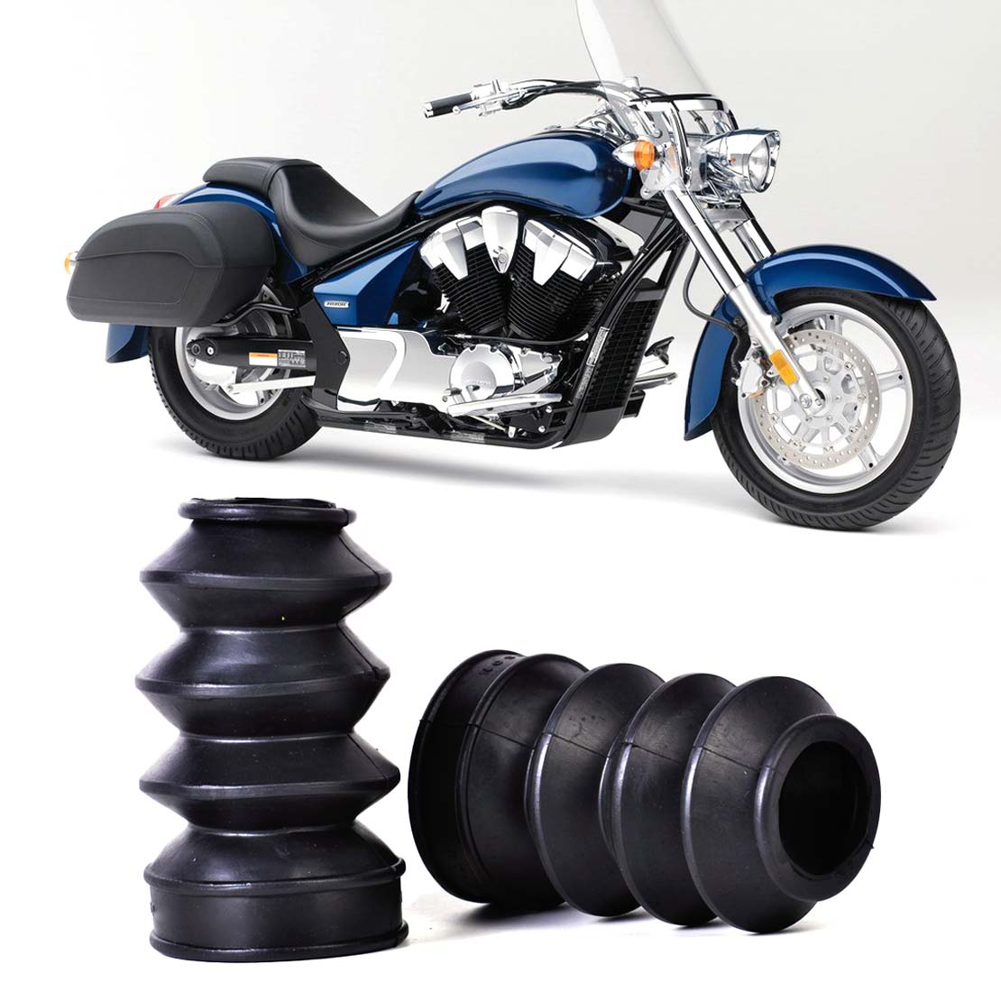 ⊹Dwcx 2 unids motocicleta goma Tenedores dirt cover Gaiter Gator ...