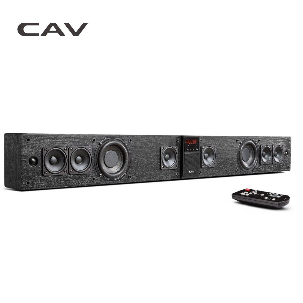 CAV BS30 Bluetooth Soundbar Colonne Double Subwoofers Haut-Parleur Home Cinéma Système de Son Surround DTS Accrocher Mur Intégré 3D Stéréo