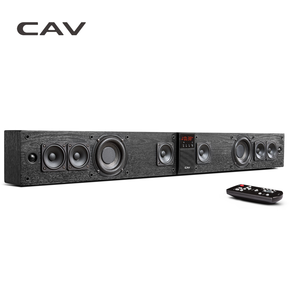 CAV BS30 Coluna Dual Subwoofers Soundbar Bluetooth Speaker Home Theater DTS Surround Sound System Pendurar Parede Embutido 3D Estéreo
