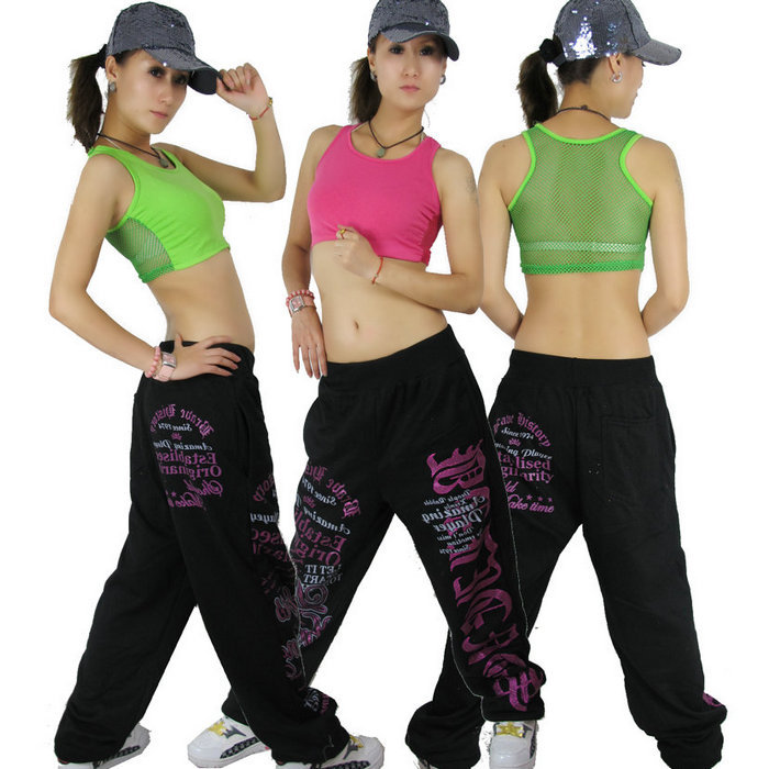 New Fashion hip hop top dance female Jazz costume performance wear letter strapless Sexy ultra short