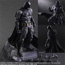 Batman Action Figures Play Arts Kai Dawn of Justice PVC Toys 260mm Anime Movie Model Heavily-armored Bat Man Playarts Kai
