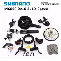 SHIMANO Original DEORE M6000 2x10s 3x10s Speed 11 42T MTB Mountain Bike Accessories Bicycle Groupset Shifter/Derailleur/Crankset