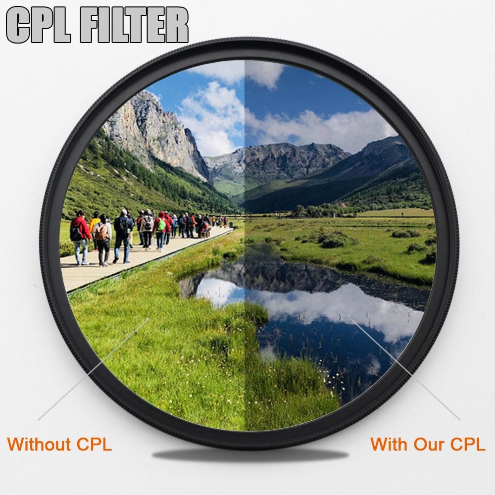 KENKO CPL polariseur circulaire appareil photo filtre Profession filtre pour Canon Nikon DSLR appareil photo objectif 49/52mm/55/58/62/67/72/77/82mm