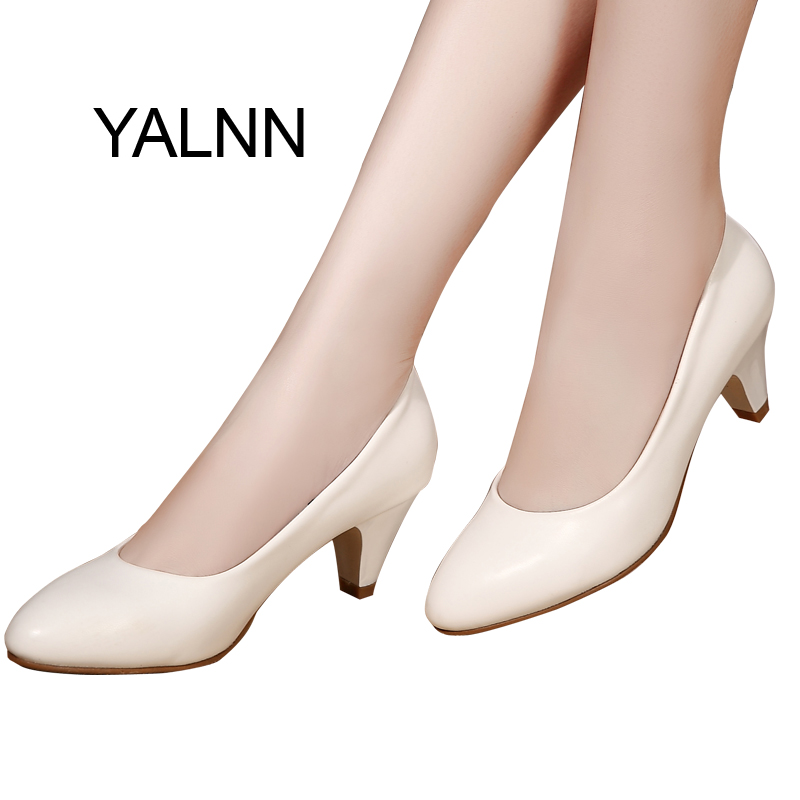 YALNN Pumps Dames Classics Hoge Hakken Puntschoen Dagelijks Schoenen Grote maten Wit Zomer Dames Schoenen Pumps Jurk Trouwschoenen